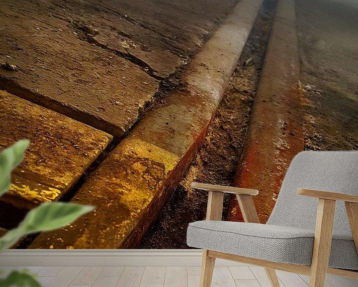 Beispiel fototapete: Vervlogen rails von Chris van Doorn