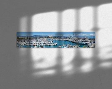 ANTIBES Fort Carre and Port Vauban   Panoramic van Melanie Viola