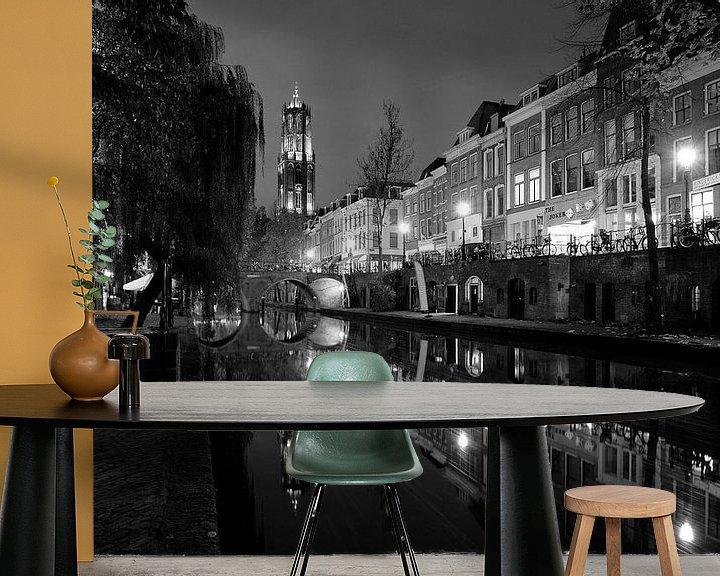 Beispiel fototapete: Oudegracht in Utrecht von Donker Utrecht