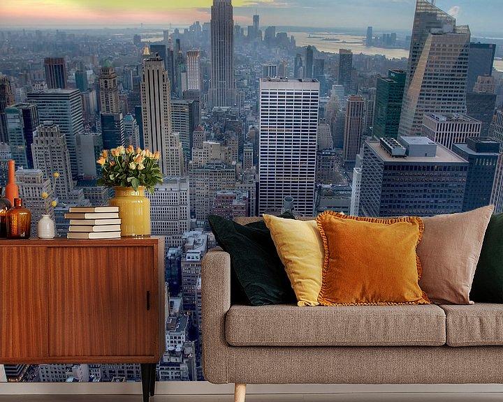 Sfeerimpressie behang: New York City van Guido Akster
