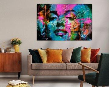 Mariyln Monroe Collage Pop Art PUR van Felix von Altersheim