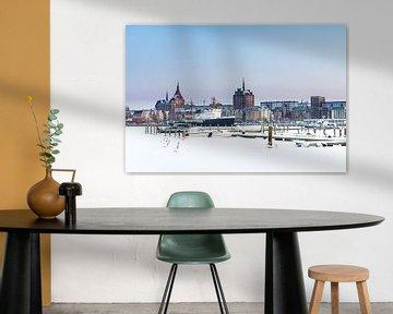 Winter in Rostock van Rico Ködder