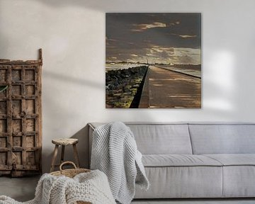 Pier, Hoek van Holland (NL) von L.J. Lammers