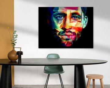 Just Face - Portrait - Pop Art von Felix von Altersheim