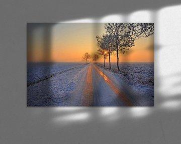 Ondergaande zon van Paula van der Horst
