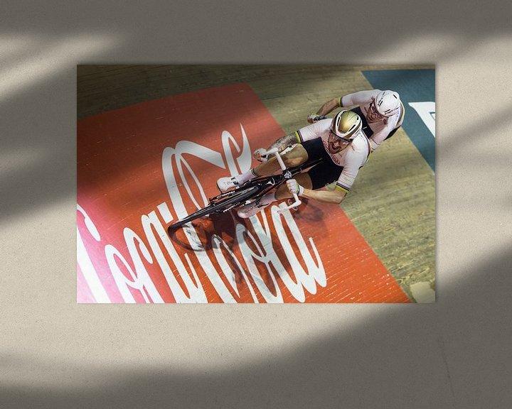 Sfeerimpressie: Bradley Wiggins en Mark Cavendish van Leon van Bon