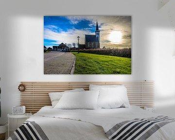 Kerkje Den Hoorn, Texel van Dick Hooijschuur