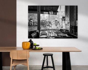 Rozengracht Amsterdam in een stortbui van Patrick Lauwers