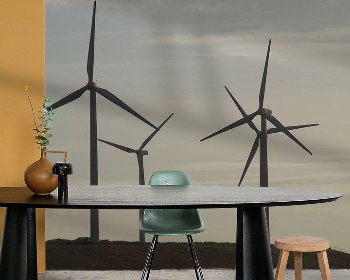 Beispiel fototapete: Windmolens, Maasvlakte 2, Rotterdam von Maurits Bredius