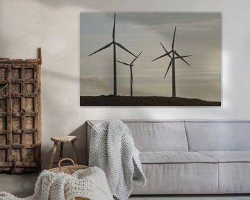 Windmolens, Maasvlakte 2, Rotterdam von Maurits Bredius