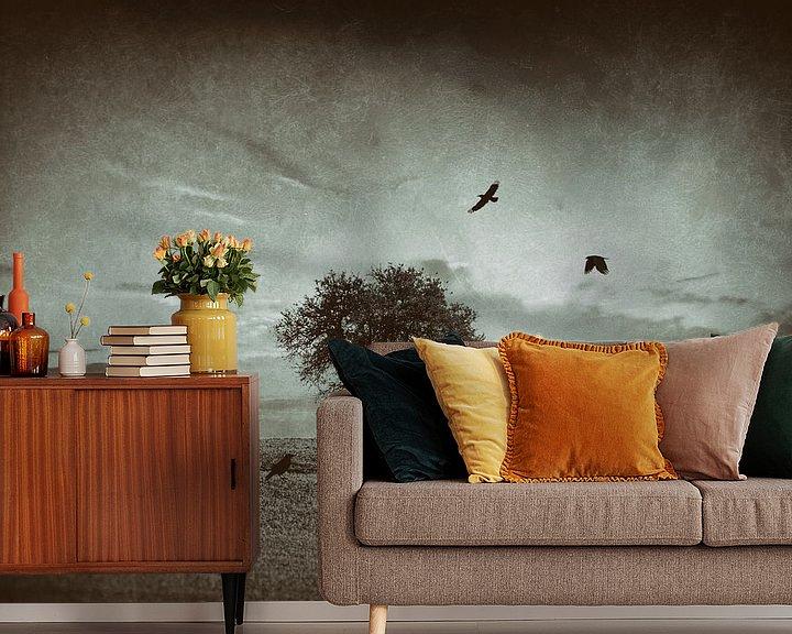 Sfeerimpressie behang: Solitude boom van Peter Bolman