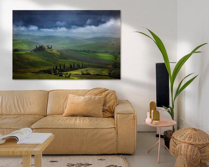 Sfeerimpressie: Toscane Villa Belvedere Italië Landschap Formaat van Peter Bolman