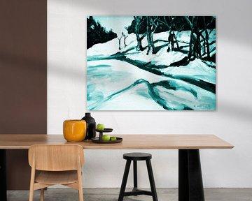 Winter landscape van Eberhard Schmidt-Dranske