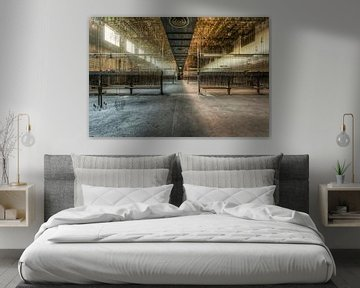 Symmetrisch, Tiefe und Linienführung in einem großen Saal von Sven van der Kooi (kooifotografie)