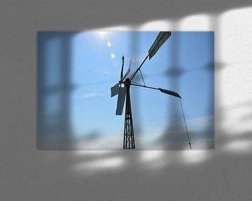 Windmolen met blauwe lucht  van Mandy M