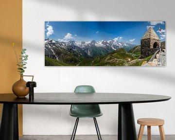 Paysage de montagne du massif du Großglockner, Hohe Tauern, Autriche