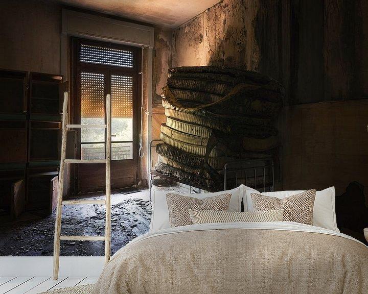 Beispiel fototapete: Matratzen gestapelt. von Roman Robroek