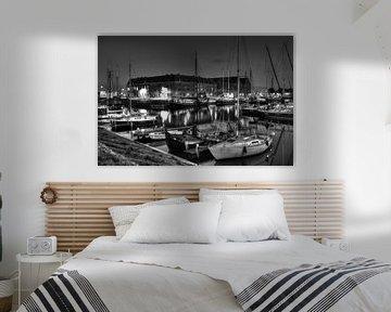 Oostereiland Hoorn zwart-wit van Monique Struijs