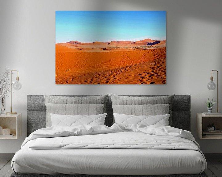 Beispiel: Fußabdrücke in Deadvlei, Namibia von Inge Hogenbijl