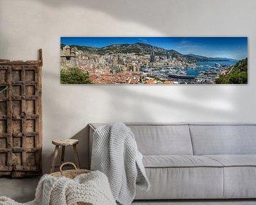 MONACO Blick nach Monte-Carlo | Panorama von Melanie Viola