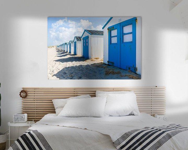 Sfeerimpressie: Strandhuisjes, Texel van Ton Drijfhamer