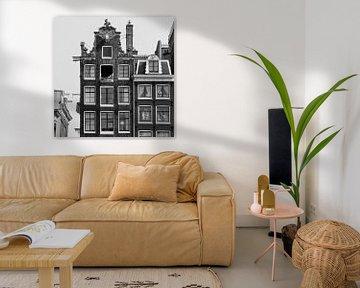 Grachtenpand Amsterdam van Jos van Ooij