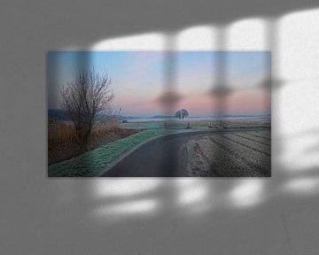 Mist over veld van Rinke Velds