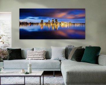 Almere skyline van Arjan Keers
