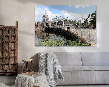 Morspoort en molen De Put, Leiden van Carel van der Lippe