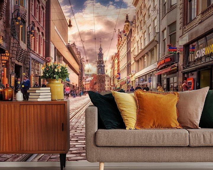 Beispiel fototapete: Regelmäßige Bruststraße Amsterdam von Dennisart Fotografie