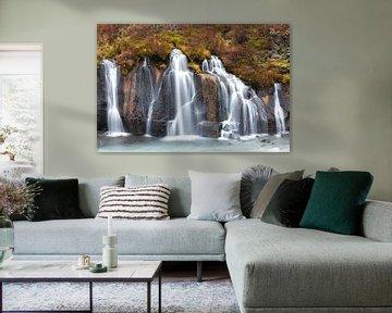 Hraunfossar Waterfall at Iceland von Ben van Boom