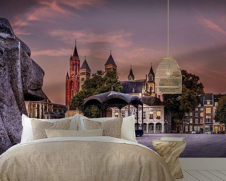 Beispiel fototapete: Vrijthof Maastricht bei Sonnenaufgang von Geert Bollen