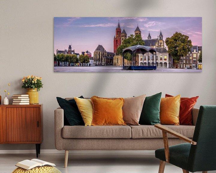 Impression: Panorama Vrijthof Maastricht bei Sonnenaufgang sur Geert Bollen