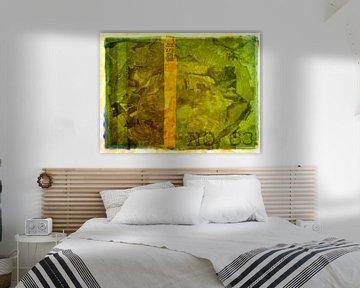 Collage Grün Nr. 63. Archiv von Rietje Bulthuis