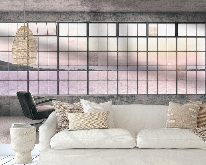 Sfeerimpressie behang: Loft with a view. van Olaf Kramer
