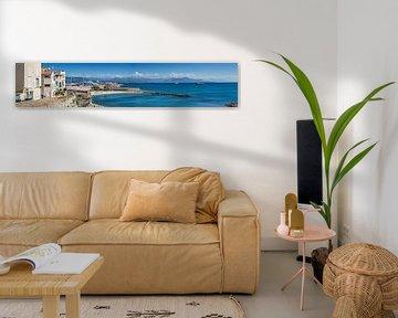 ANTIBES Coastline   Panoramic van Melanie Viola