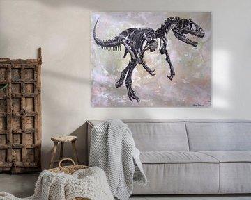 Allosaurus skelet von Harm Plat
