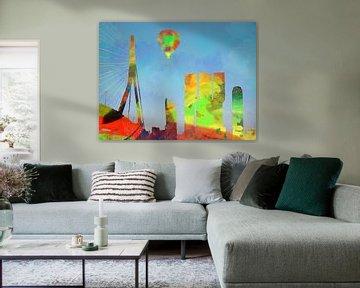 Die Skyline von Rotterdam in Aquarellen von Adriana Zoon