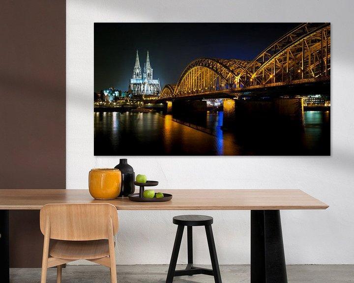 Sfeerimpressie: De Dom en de Hohenzollernbrücke in Keulen van Karel Pops
