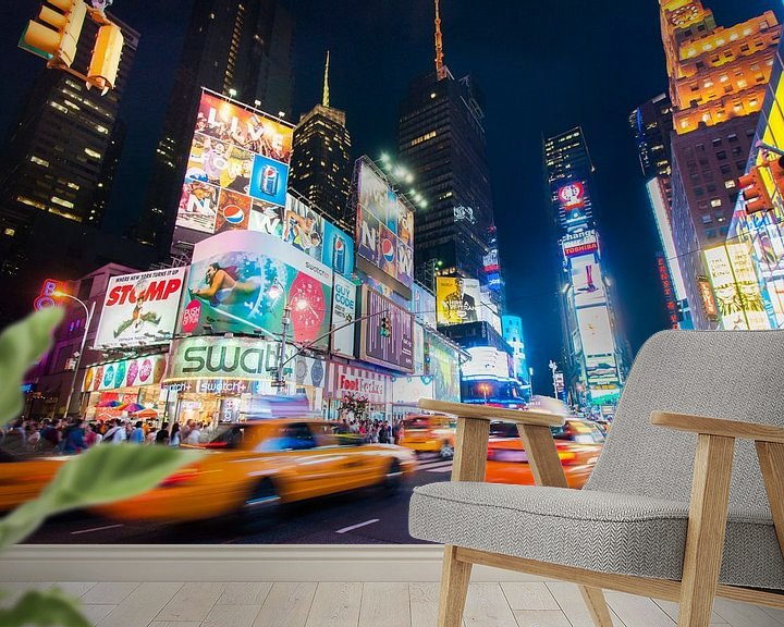 Impression: Yellow cab on Times Square sur Laura Vink