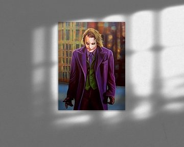 Heath Ledger as The Joker Schilderij von Paul Meijering