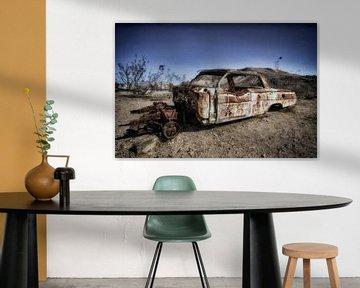 Verlassenes Auto in der Geisterstadt Rhyolite von Yvonne Smits