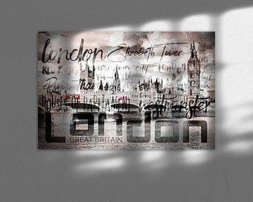 Urban-Art LONDON Houses of Parliament & Red Buses II von Melanie Viola