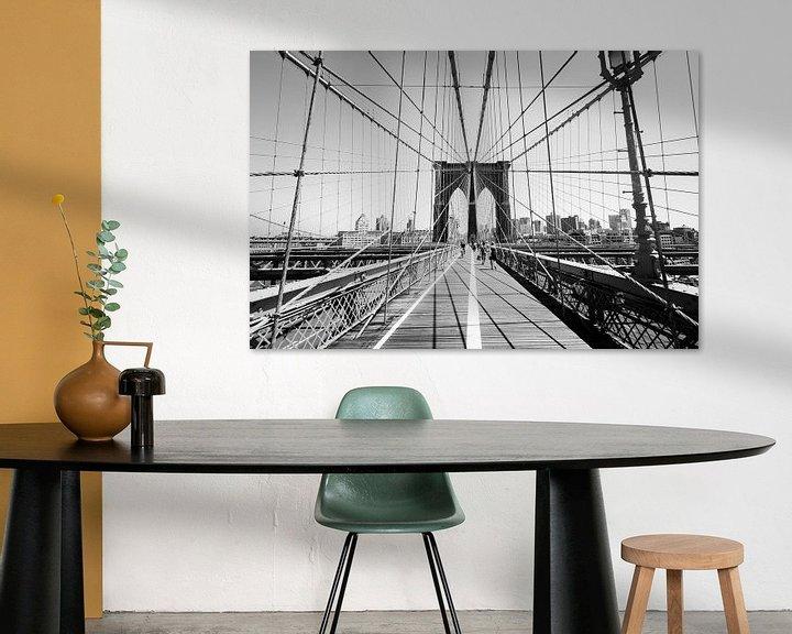 Sfeerimpressie: Brooklyn bridge van Laura Vink