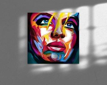 Just Face 04 Pop Art von Felix von Altersheim