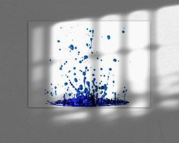 Blauwe verf van Sjoerd van der Wal