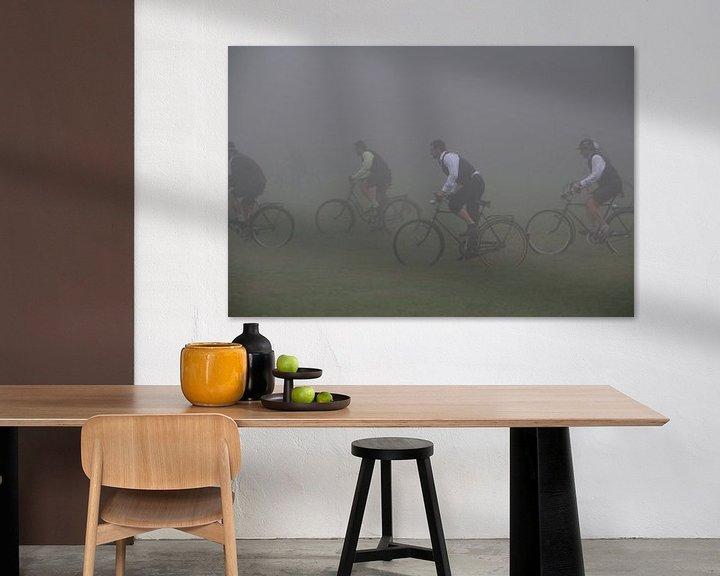 Impression: Course cycliste bavaroise dans le brouillard sur Paul Franke