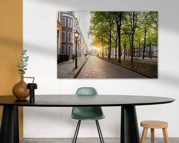 Lange Voorhout, Den Haag (Sonnenuntergang) von John Verbruggen