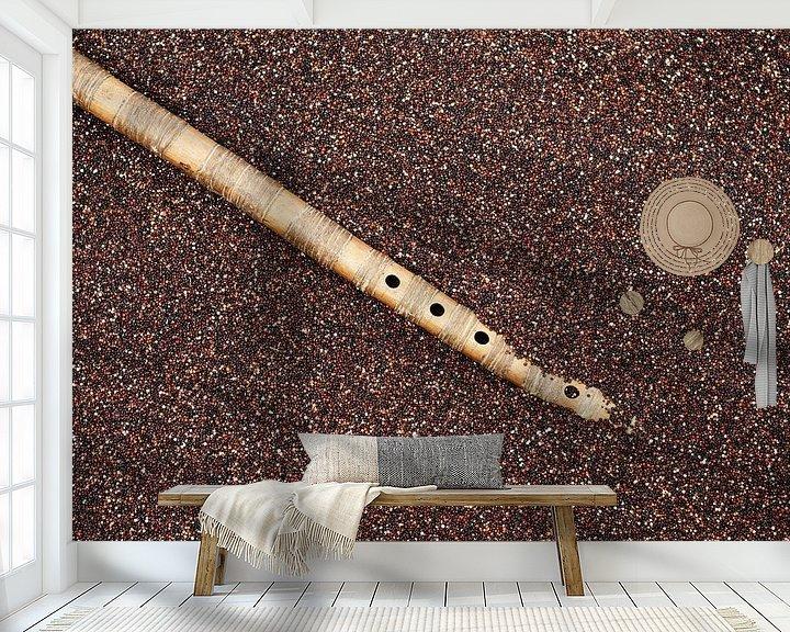 Sfeerimpressie behang: Boliviaanse quinoa met panfluit van Patricia Verbruggen