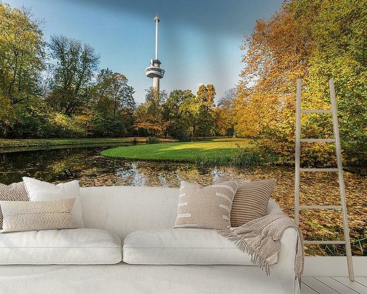 Sfeerimpressie behang: Herfst in het Park bij de Euromast in Rotterdam van MS Fotografie   Marc van der Stelt
